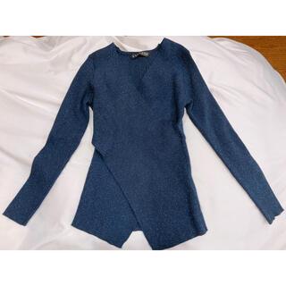 長袖ラメニット セーター(ニット/セーター)