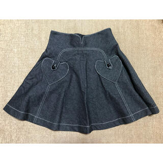 アナスイ(ANNA SUI)のANNASUI デニムスカート(ひざ丈スカート)
