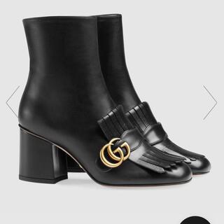 グッチ(Gucci)のレザーアンクルブーツ(ブーツ)
