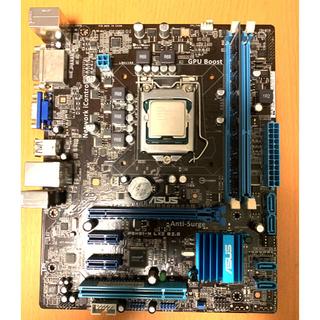 エイスース(ASUS)のintel core i3 3220 マザーボード メモリ4GBセット(PCパーツ)