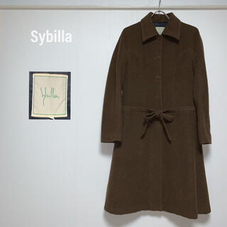 シビラ(Sybilla)のシビラ Sybilla ロングコート リボン デザインコート ウール 定価7万(ロングコート)