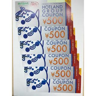 ホットランド(築地銀だこ)の株主優待券 3000円(500円✖️6枚)(フード/ドリンク券)