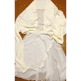 チャコット(CHACOTT)の新品未使用チャコット・ニットトップス&リボンプリント・シフォン巻きスカート(ダンス/バレエ)