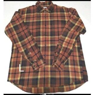 ジーユー(GU)の 送料無料 ジーユー フランネルチェックシャツ(シャツ)