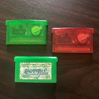ゲームボーイアドバンス(ゲームボーイアドバンス)のポケモン エメラルド ルビー リーフグリーン GBA 中古 3本セット売り(携帯用ゲームソフト)