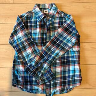 ユニクロ(UNIQLO)のチェック 長袖シャツ 150cm(ブラウス)
