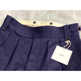 コモリ(COMOLI)の新品未使用 NEAT Cotton Pique Beltless Pants L(チノパン)