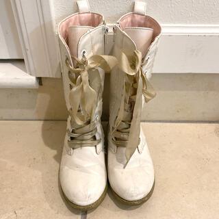 Shirley Temple - Shirley Temple*ホワイトロングブーツ19cm