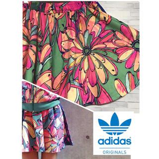 アディダス(adidas)のadidas  アディダス オリジナルス ファームコラボ バナナ柄 スカート(ミニスカート)