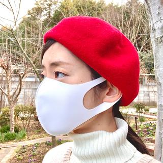 オーバーライド(override)のベレー帽 RED override ウール100%(ハンチング/ベレー帽)