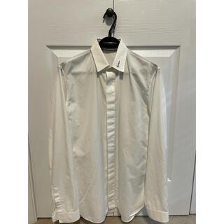 ディオールオム(DIOR HOMME)の美品 Dior homme シャツ ロゴ コットン ポプリン (シャツ)