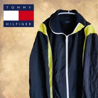 トミー(TOMMY)のTOMMY ナイロンジャケット ネオンカラー 黄緑色 ジャージ ビッグロゴ(ナイロンジャケット)
