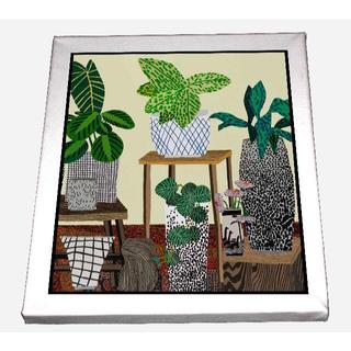 3枚セット-ジョナス 観賞 植物 インテリア キャンバスアート 模写(ボードキャンバス)