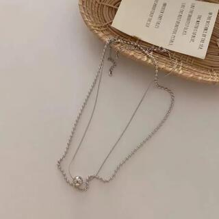 フリークスストア(FREAK'S STORE)のbipartite ball necklace set-silver-(ネックレス)