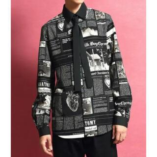 MILKBOY - MILKBOY  GOSSIPシャツ 黒