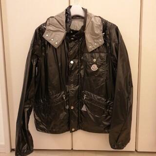 モンクレール(MONCLER)のモンクレール ブラック ナイロンジャケット  Size2 光沢素材(ナイロンジャケット)