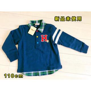 ホットビスケッツ(HOT BISCUITS)のミキハウス ホットビスケッツ 厚手重ね風Tシャツ110cm 新品タグ付き(Tシャツ/カットソー)