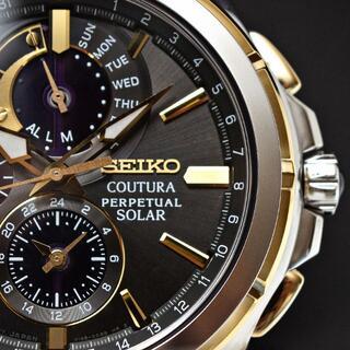 セイコー(SEIKO)の新品 海外限定 セイコー上級コーチュラ ソーラークロノグラフ腕時計 永久カレンダ(腕時計(アナログ))