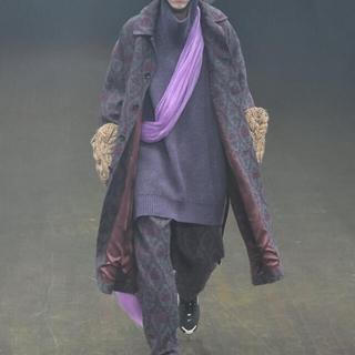アンダーカバー(UNDERCOVER)のundercover 19aw ジャガード織 オーバーコート 定価20万(ステンカラーコート)