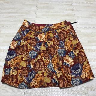プーラフリーム(pour la frime)のプーラフリーム 花柄スカート アンティーク柄 膝丈(ひざ丈スカート)