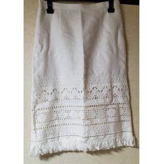 ロイスクレヨン(Lois CRAYON)のロイスクレヨン リネンタイトスカート(ひざ丈スカート)