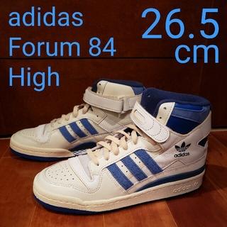 アディダス(adidas)のadidas Forum 84 High OFFWHITE BLUE 26.5(スニーカー)