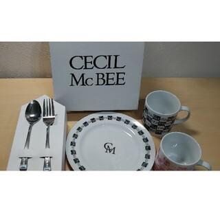 セシルマクビー(CECIL McBEE)のセシルマクビー スプーンとフォークとペアカップのセット(食器)