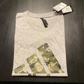 アディダス(adidas)のアディダス★Tシャツ★グレーに迷彩★サイスL(Tシャツ/カットソー(半袖/袖なし))