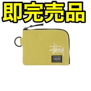 ステューシー(STUSSY)の即完品 STUSSY × PORTER wallet 財布 イエロー 新品未使用(折り財布)