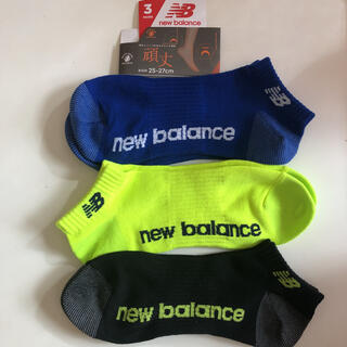 ニューバランス(New Balance)の頑丈 newbalance 25〜27cm 3足 ショートソックス(ソックス)