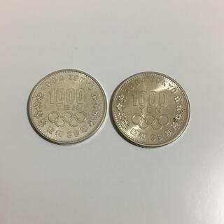 035 東京五輪(1964年) 千円記念銀貨 2枚セット(スポーツ)