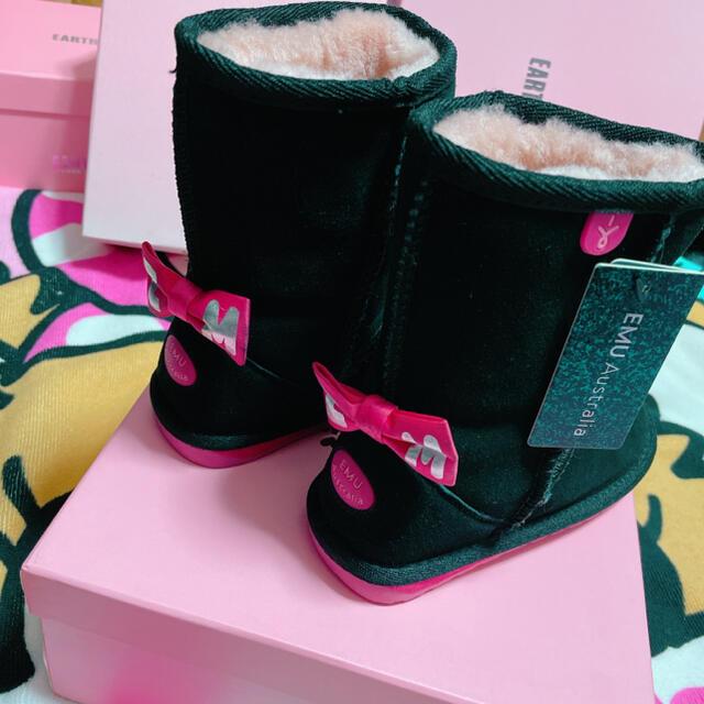 EARTHMAGIC(アースマジック)の⑬EMUコラボムートンブーツ キッズ/ベビー/マタニティのキッズ靴/シューズ(15cm~)(ブーツ)の商品写真
