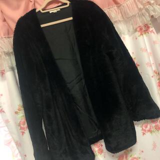 アンクルージュ(Ank Rouge)の♡ FUN ♡ ファーコート ブラック ジャケット(毛皮/ファーコート)