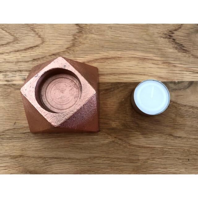 ACTUS(アクタス)のACTUS キャンドルホルダー(キャンドル1個付) コスメ/美容のリラクゼーション(キャンドル)の商品写真