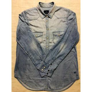 アメリカンイーグル(American Eagle)のボーイフレンドシャツ(シャツ/ブラウス(長袖/七分))