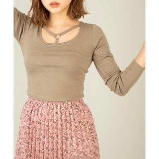 セシルマクビー(CECIL McBEE)のリングデザインテレコカットソー(Tシャツ/カットソー(七分/長袖))