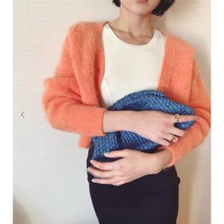 エディットフォールル(EDIT.FOR LULU)のpetit lulu mohair cardigan orange 🍊(カーディガン)