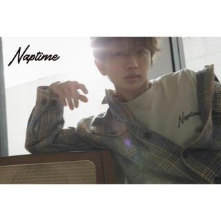 トリプルエー(AAA)のNissy naptime ロンT ベージュ(Tシャツ/カットソー(七分/長袖))