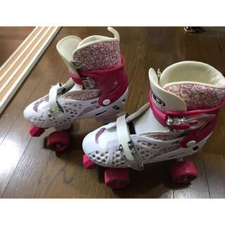 子供用 ローラースケート 21-24㎝(ローラーシューズ)