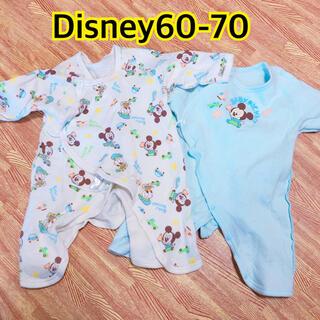 ディズニー(Disney)の新生児 長肌着 コンビ肌着 (肌着/下着)