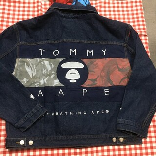 TOMMY HILFIGER - AAPE X TOMMY  JEANS デニムジャケット