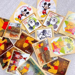 ディズニー(Disney)の使用済み切手 ディズニー くまのプーさん ミッキーミニー 82円切手 80円切手(使用済み切手/官製はがき)