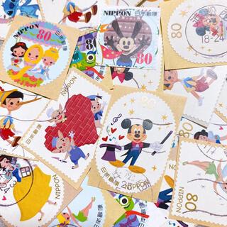 ディズニー(Disney)の使用済み切手 ディズニー ミッキー プリンセス オズワルド  80円切手(使用済み切手/官製はがき)