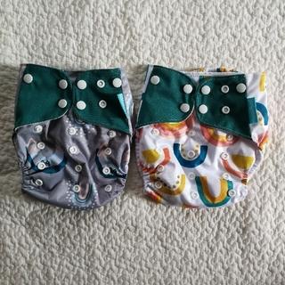 【専用】フリーサイズ 布おむつカバー 4枚 新品未使用(ベビーおむつカバー)