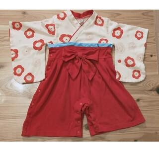 ベルメゾン(ベルメゾン)の袴ロンパース 70センチ(和服/着物)