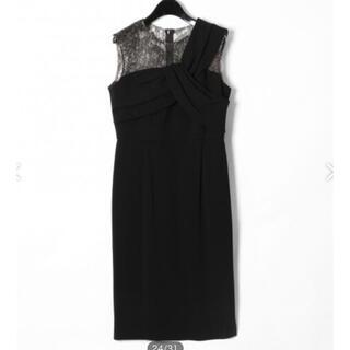グレースコンチネンタル(GRACE CONTINENTAL)のグレースコンチネンタル 切り替えドレープドレス 結婚式 ドレス  ワンピース(ミディアムドレス)