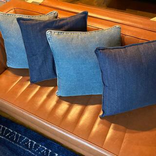 ムジルシリョウヒン(MUJI (無印良品))のクッションカバー 無印良品 ニトリ 4個セット(クッションカバー)