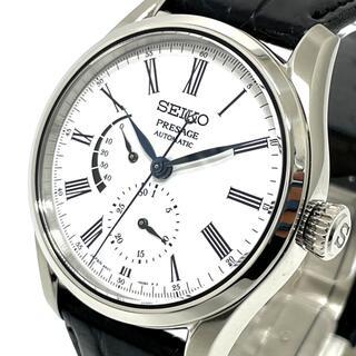 セイコー(SEIKO)のセイコー プレサージュ 腕時計 6R27-00L0 琺瑯ダイヤル シルバー(腕時計(アナログ))