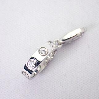 カルティエ(Cartier)のカルティエ 750 フルダイヤ ラブチャーム ペンダントトップ[g370-11](チャーム)