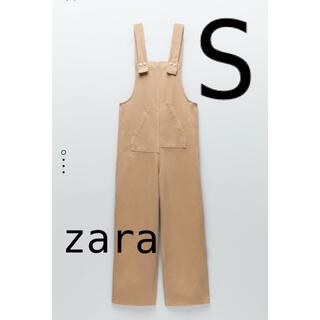 ZARA - ZARA パッチポケットデニムオーバーオール S